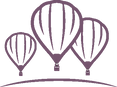 Three hot air balloons logo for Lia Blanchard Freelance Business Writer