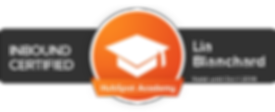 HubSpot Academy Inbound Certification for Lia Blanchard