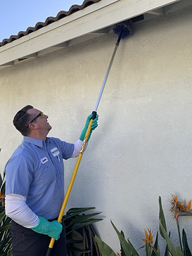 pest-control-technician-wiping-down-spider-webs