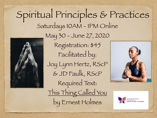 2020-05-30 Spiritual Principles & Practi