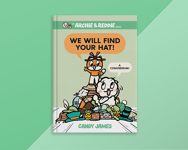 Archie-Reddie-book-cover-hats-Candy-Jame