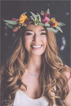 wedding floral headdress
