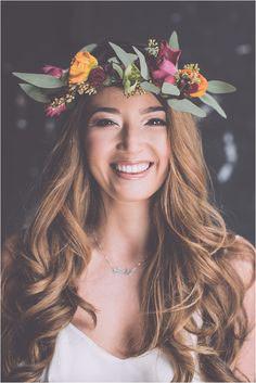 wedding floral headdress