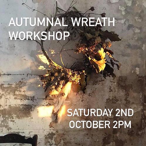 Autumnal Wreath Workshop - Sat 2nd October 2pm