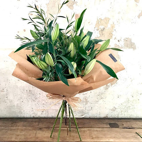 Lil - White lily bouquet