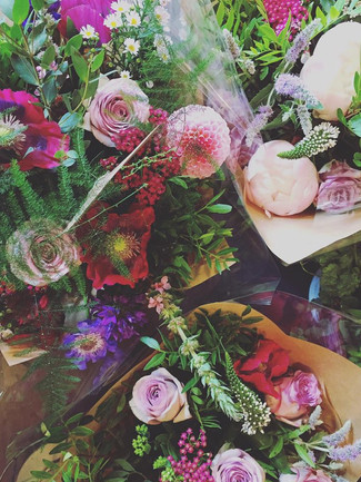 selection of fresh flower bouquets