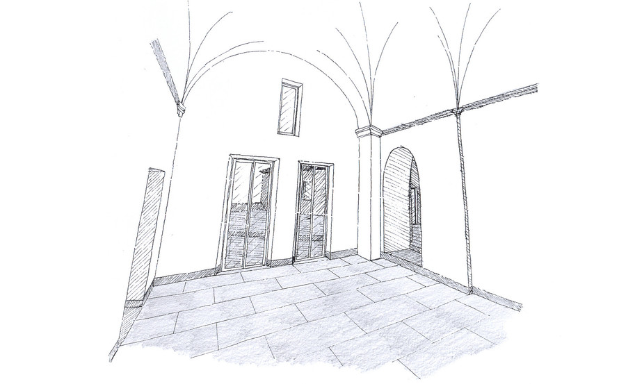 LIVING SKETCH TOWARDS THE TERRACE