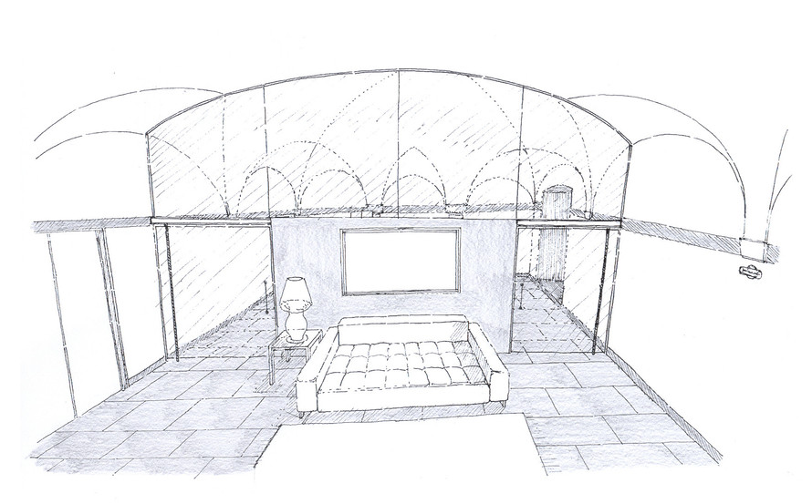 BEDROOM AND LOUNGE SKETCH 02