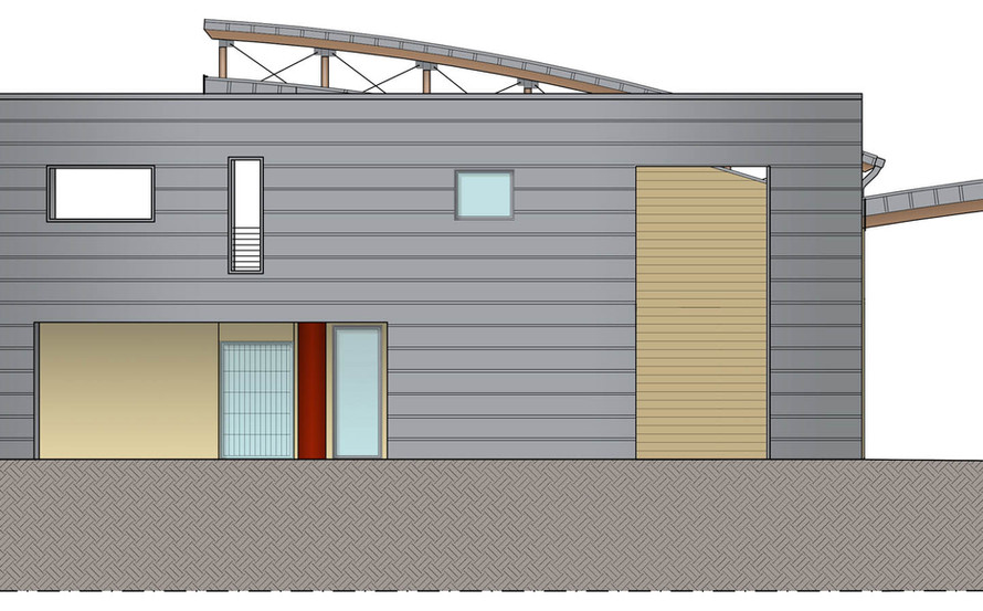 WEST ELEVATION LAY-OUT