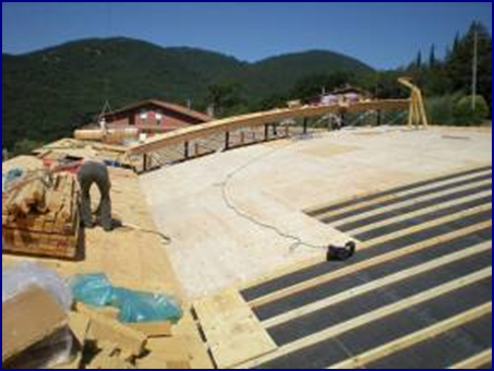 CURVED ROOF UNDER CONSTRUCTION