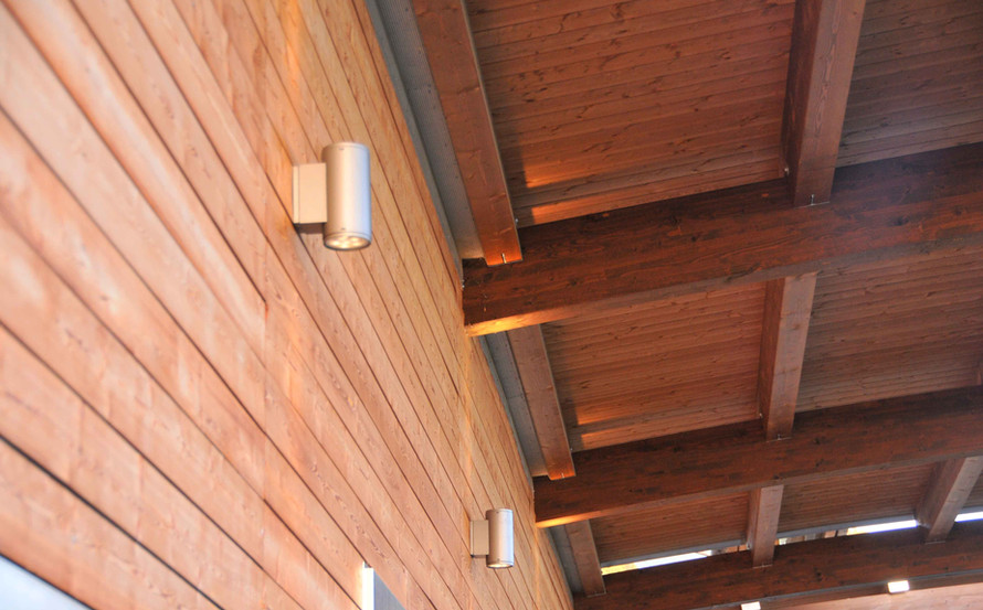 PORCH ROOF AND LIGHITING DETAILS