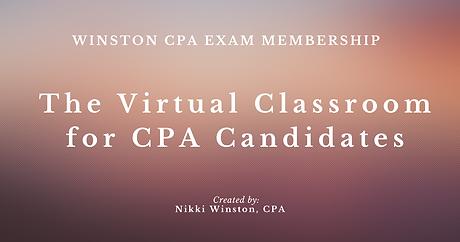 Winston CPA Exam Membership