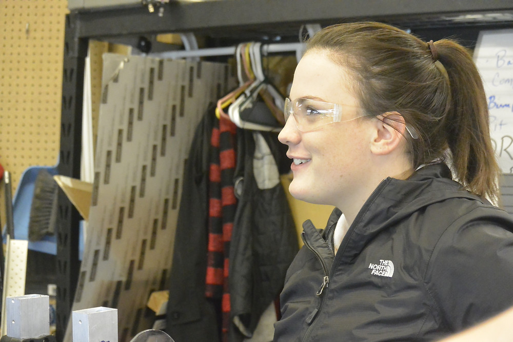 Senior, Rebekah Potts, has been in electrical all four years of FRC.