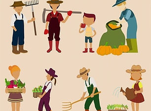 family_works_isolated_with_farmers_tools