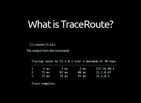 What is traceroute