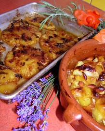 Pečený ananas s mátou a medem