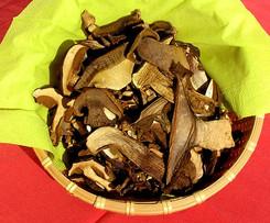 Sušené houby v peci