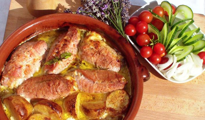 Vepřové závitky s bramborem
