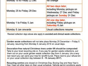 Refuse Collections - Bank Holiday changes