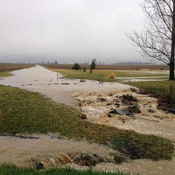 Flooding on farm