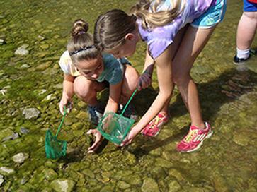 Girl scout program in creek