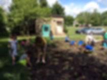 Planting at Hopewell Elementary