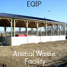 EQIP animal waste facility
