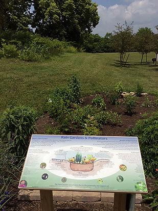 Rain garden at Butler SWCD