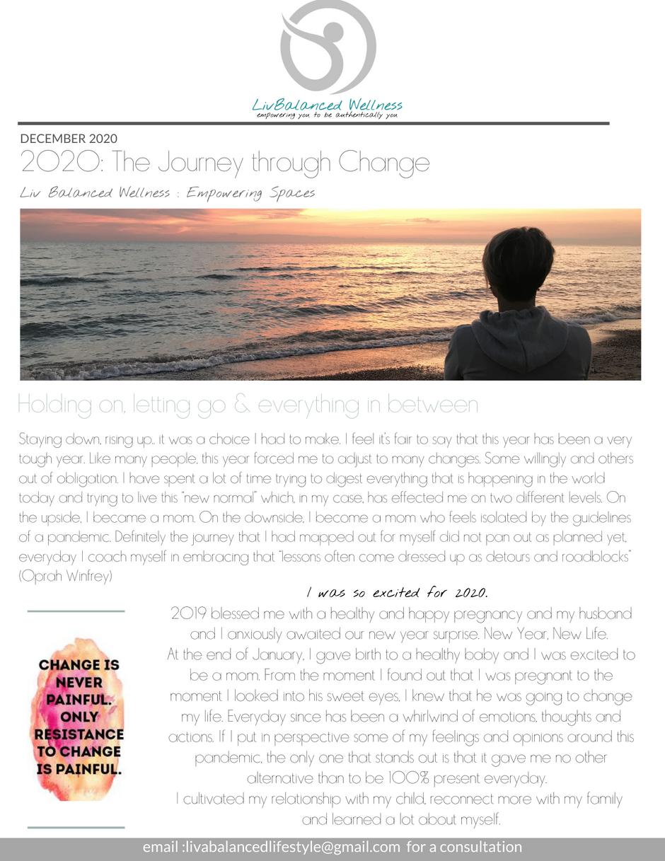 2020: The Journey through Change