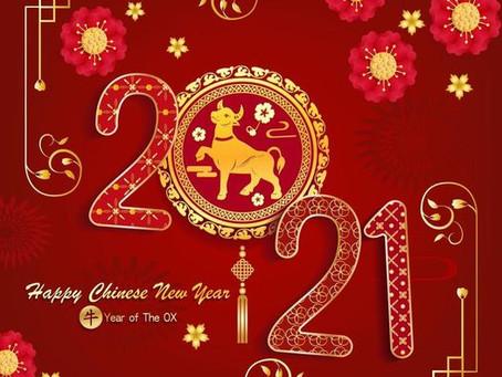 2021 - Ano Novo com muita Saúde, Paz, Amor e Luz!