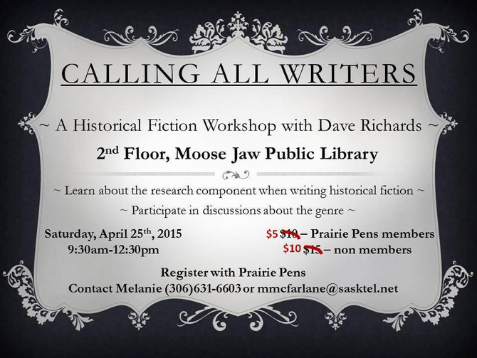 Historical Fiction workshop coming soon