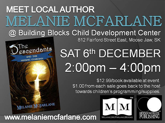 Book Signing next month! Dec 6th