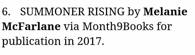 An early birthday present: Summoner Rising's publication announcement