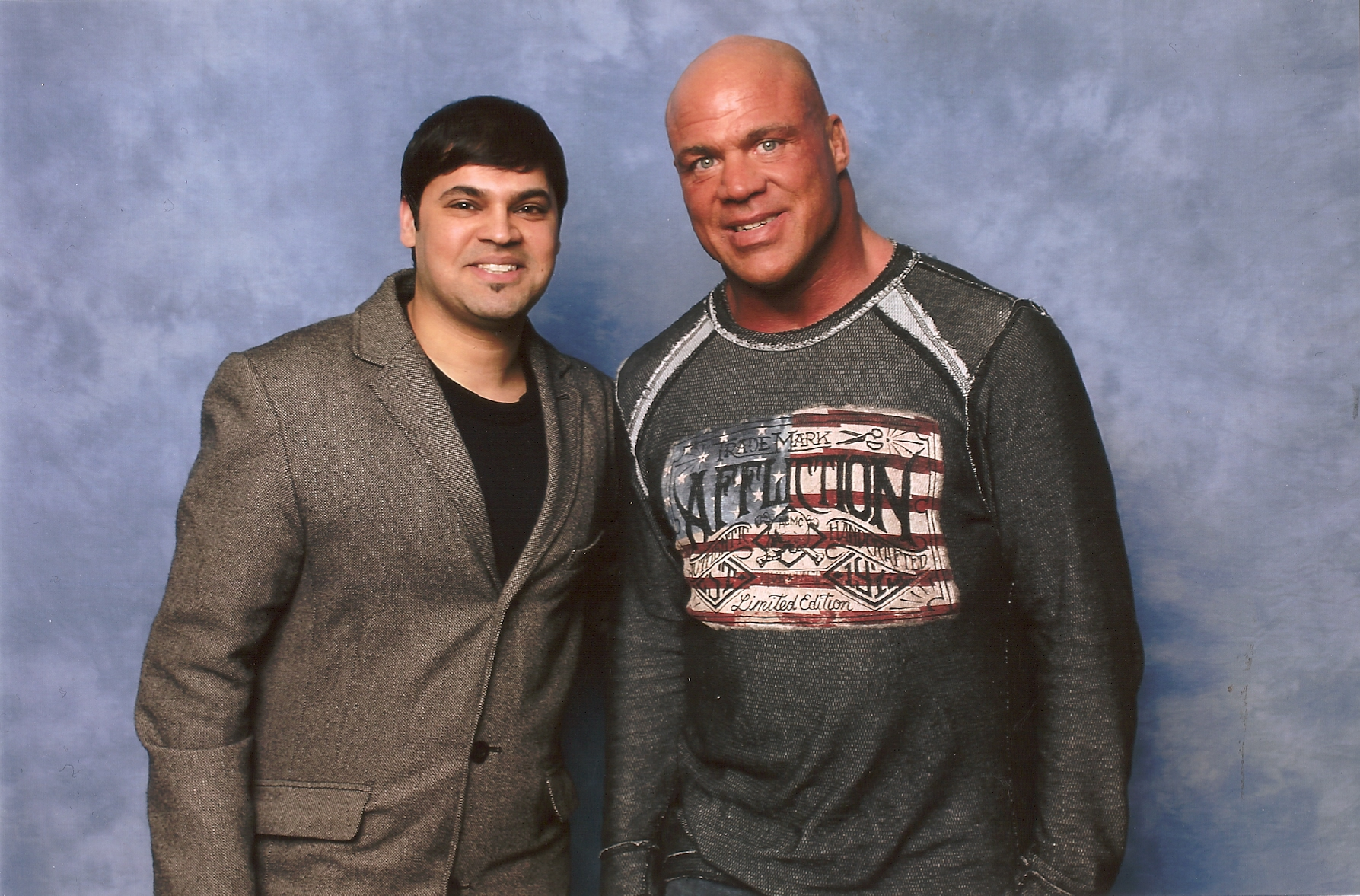 With Wrestler Kurt Angle