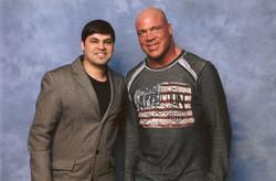 With Wrestler Kurt Angle