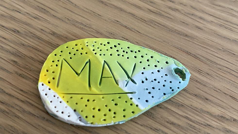 Dog Tag: Marbled Dots