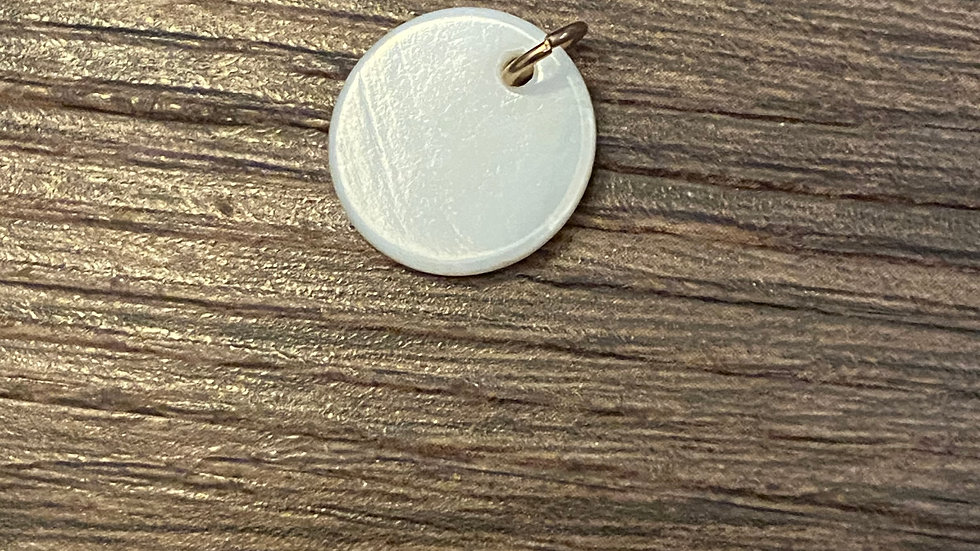 Pearly Plate Pendant