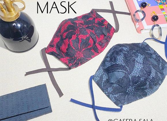 大人用 ファッションマスク 黒レース