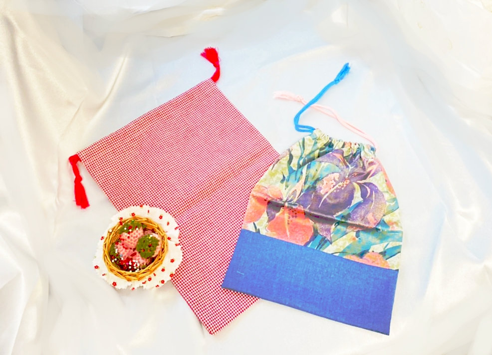 洋裁体験 巾着(大・小セット)