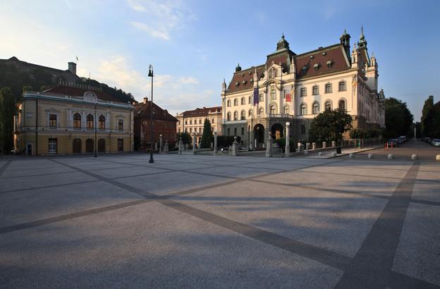 Slovenska filharmonija (Slovene Philharmonic Hall) and Kongresni trg (Congress square)