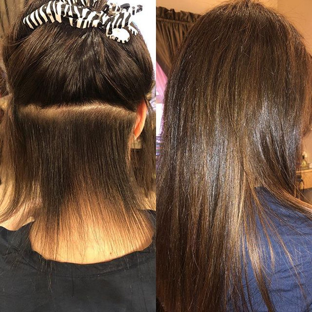 "14"" hair extensions by Tanya ❤️🙋‍♀️ Ice"