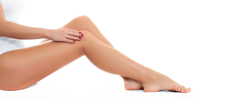 Long woman legs with smooth skin after d
