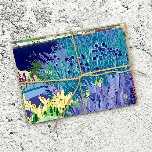 """""""Wildflowers"""" note card collection"""