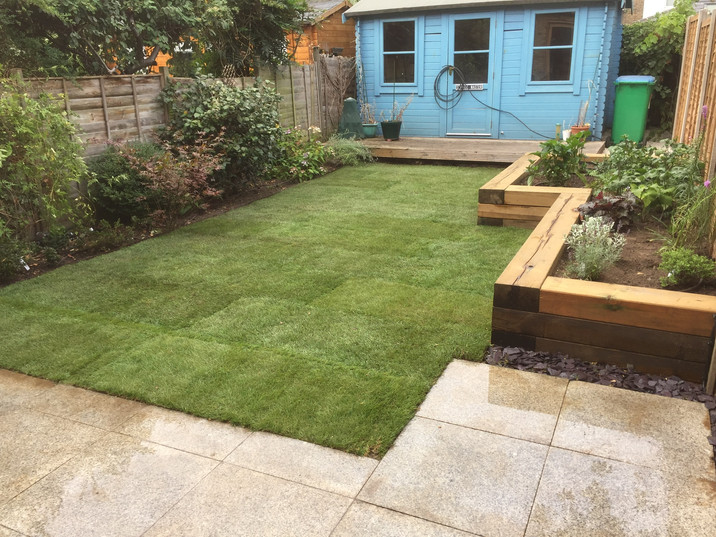 Lawns, Raised Beds and Paving