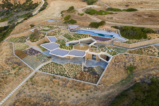 An Astounding Tessellated Home in Greece Burrows Into the Earth