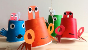 10 Ocean Animal Crafts for Kids: Earth Day Arts & Craft Ideas Using Recycled Materials