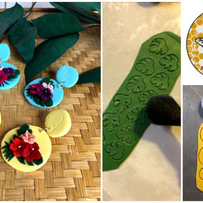 Making One-Of-Kind Polymer Clay Earrings with The Little Worker Bee Co