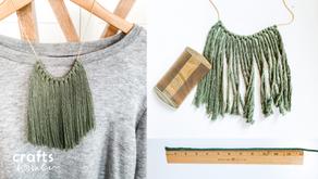 DIY: How to Make a Lovely Macrame Fringe Necklace