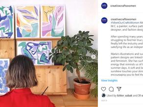Meet Maria M.C, a Painter and Designer @berserkprints | Barcelona, Spain