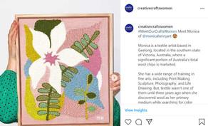 Meet Monica Henry, a Textile Artist @monicahenryart  | Geelong, Australia